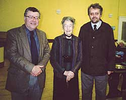 Professor Christopher Dyer, with Mrs Diana Barley and Professor John Beckett