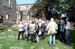 Members in the Garden at the Bishop's Palace, Southwell.