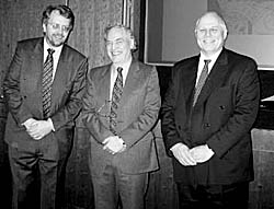 From left: John Beckett, Adrian Henstock, David Lathrope