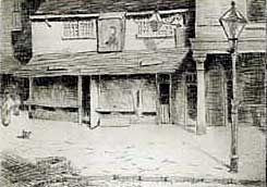 Kirke White's birthplace in Exchange Alley, Nottingham.