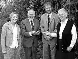 Left to right: Barbara Cast, Keith Goodman, John Beckett, Rosalys Coope