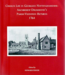 Cover of Archbishop Drummond's Parish Visitation Returns, 1764