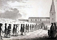 School procession in 1786, Kirkby-in-Ashfield (image courtesy of the British Library).