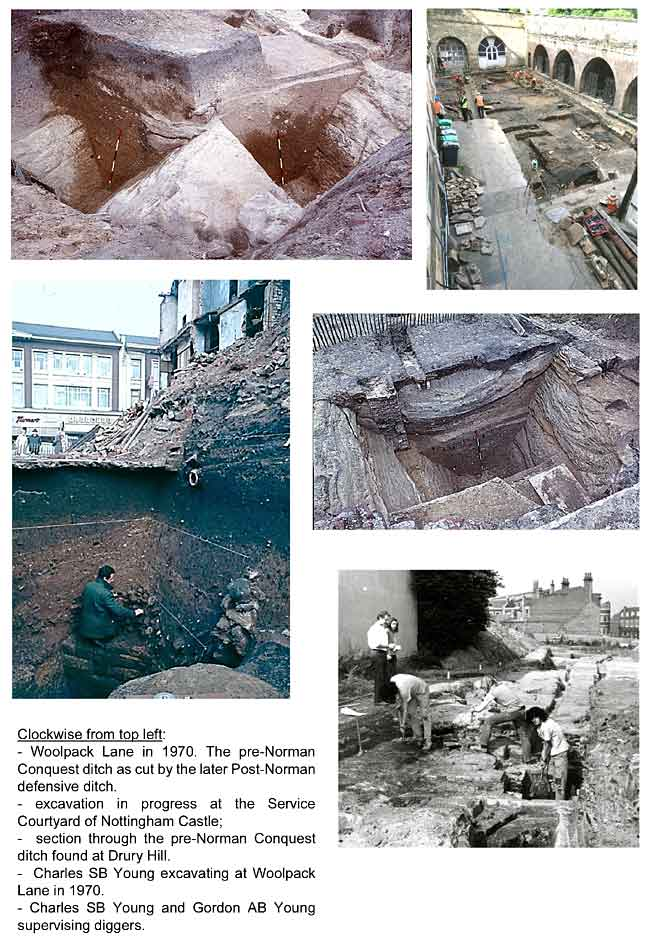 Images of archaeological excavations in Nottingham